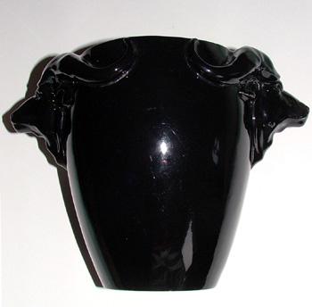 Buffalo head vase